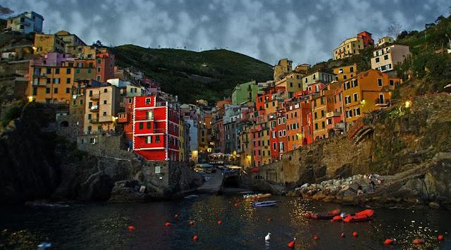 Riomaggiore Cinque Terre by Night
