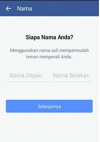 mendaftar Facebook lewat IPhone