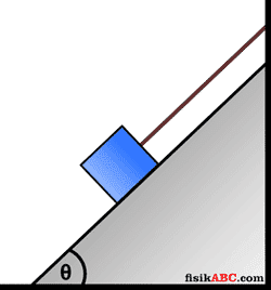 Contoh Soal Gerak Benda yang Dihubungkan Tali materi dinamika translasi dan Pembahasannya