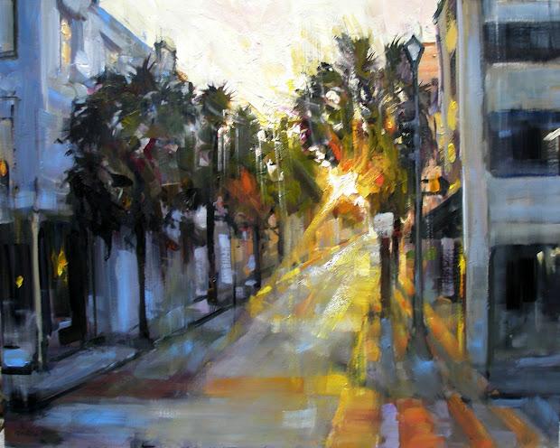 "Rick Reinert - ""studies In Sunlight And Rain"" ""early Morning Queen"" Charleston Sc Painting"