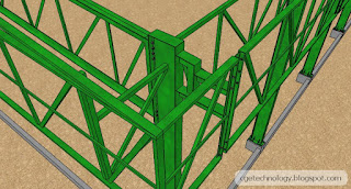 Don S Works Sketchup Animation Quot Steel Framing Of A