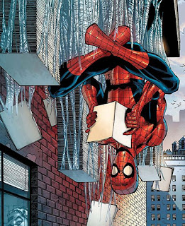 Spider-Man reading