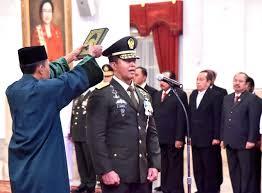 Letnan Andika, Di lantik Presiden Jokowi widodo menjadi KSAD, menggantikan Jenderal Mulyono.