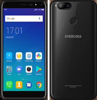 Gambar Evercoss M53 tampak depan dan belakang