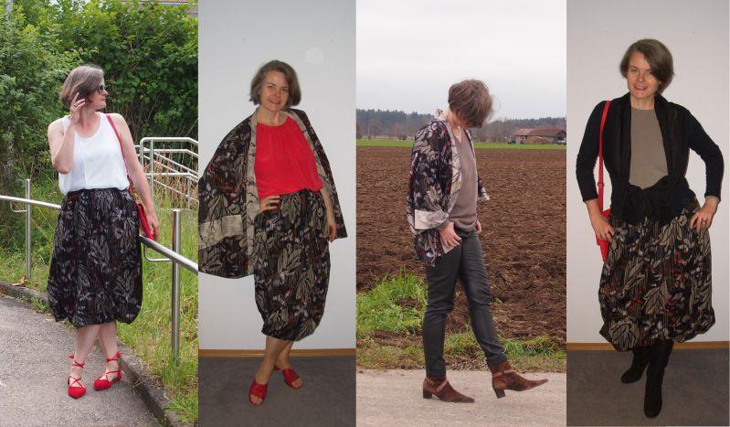 Ballonrock und Kimonojacke