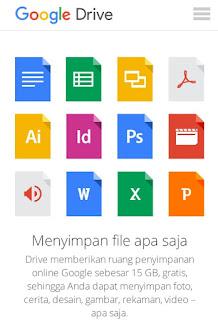 google drive ruang penyimpanan online gratis 15 gb