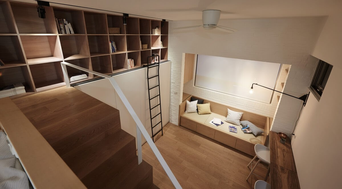 09-Living-Room-from-Above-A-Little-Design-Tiny-Apartment-Smart-Design-Renovation-www-designstack-co