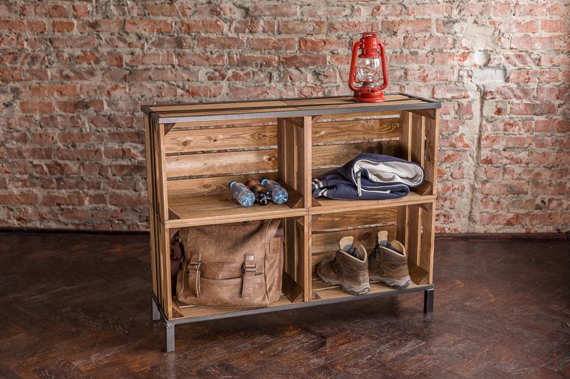 original bestloft kiste glas couchtisch beistelltisch vintage sofatisch kiste ebay. Black Bedroom Furniture Sets. Home Design Ideas