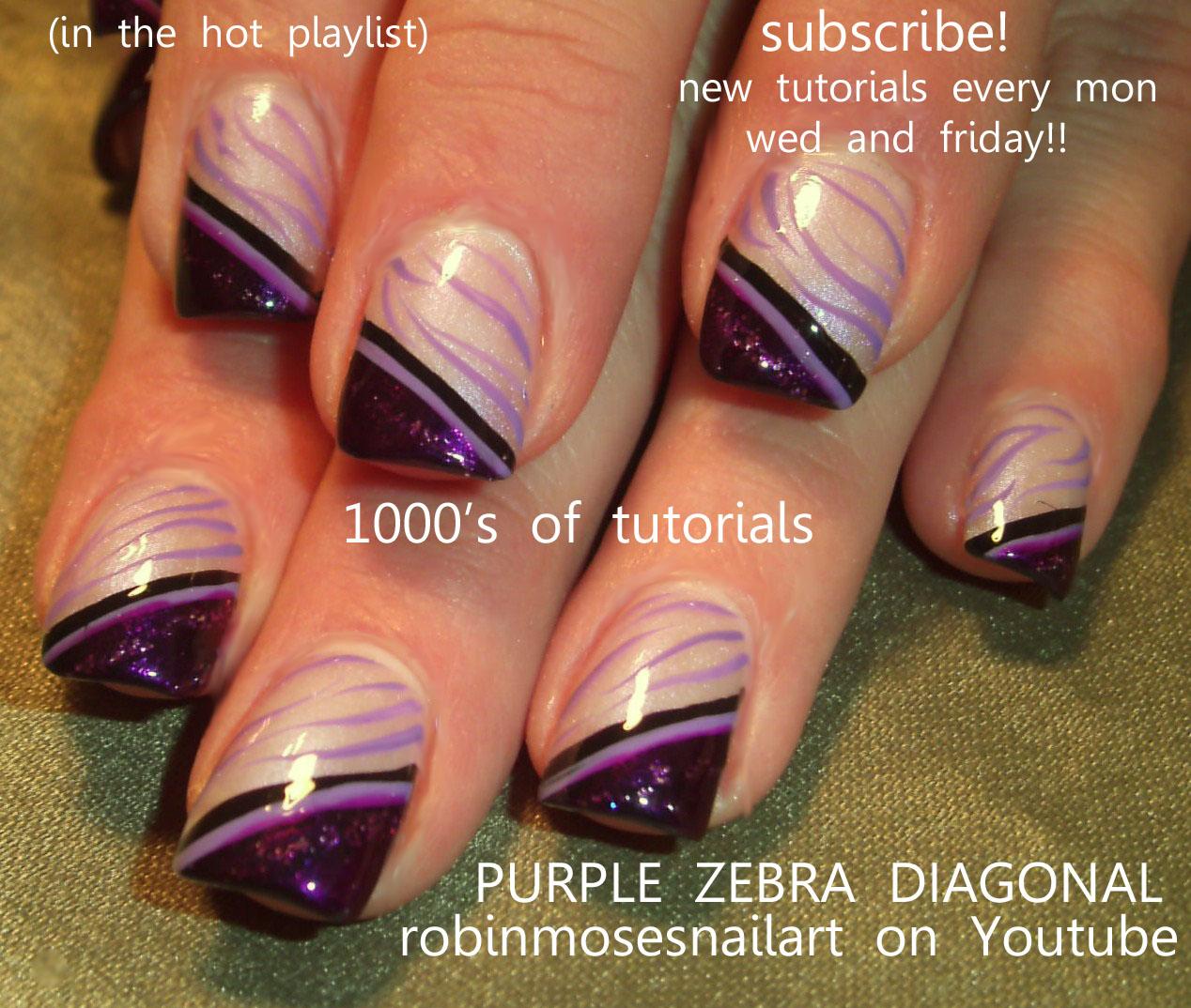 Purple Nail Art: Robin Moses Nail Art: Mac Reflects Very Pink Swatch, How