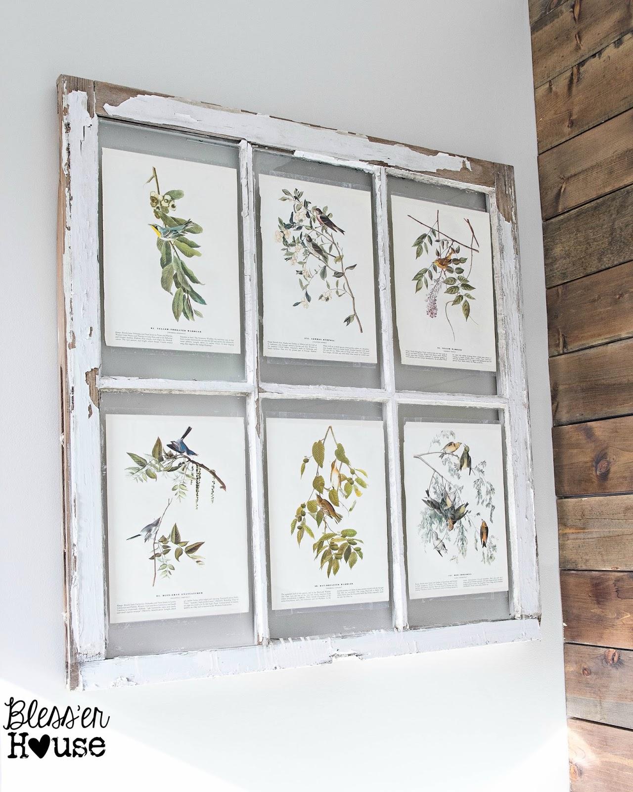 Spring Inspired Window Wall Decor Bless Er House