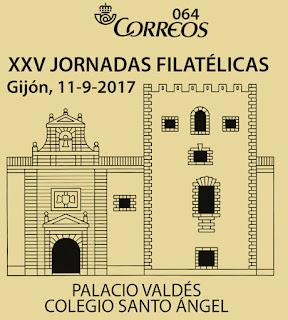 Matasellos Jornadas Filatelicas Gijón, Torre Valdés, Colegio Santo Angel