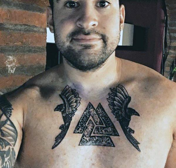 foto de tatuaje de valknut