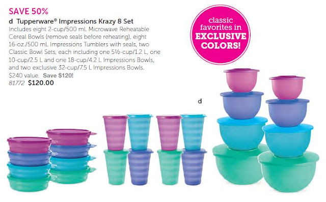 Tupperware Impressions Krazy 8 Set