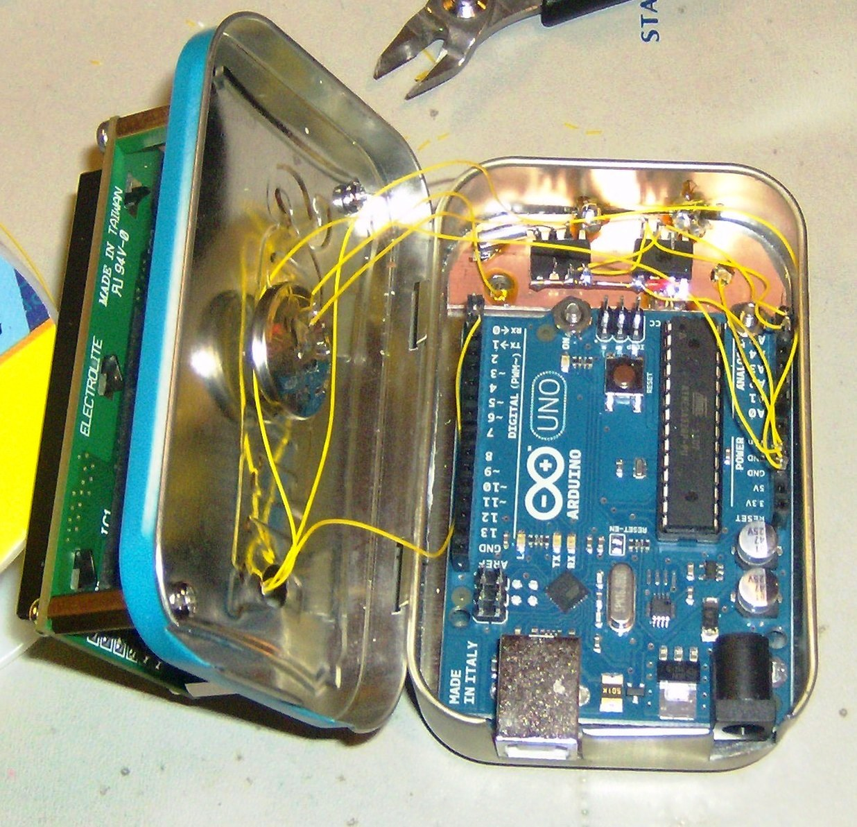 Rants from the Embedded Hardware Guy: Mounting my Arduino Clock
