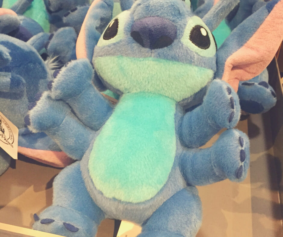 A Stitch plush in Walt Disney World.