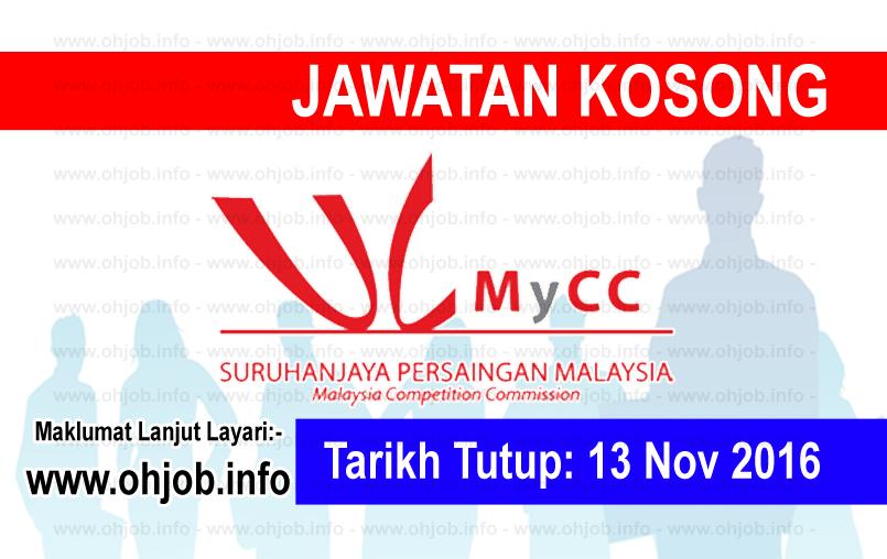 Jawatan Kerja Kosong Suruhanjaya Persaingan Malaysia (MyCC) logo www.ohjob.info november 2016