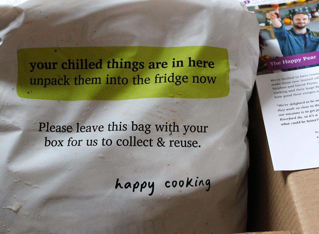 Riverford Organic Recipe Box Packaging