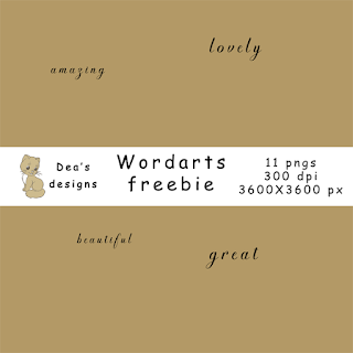 Freebie - Awesome wordarts
