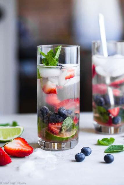 coconut blueberry mojito recipe with strawberries