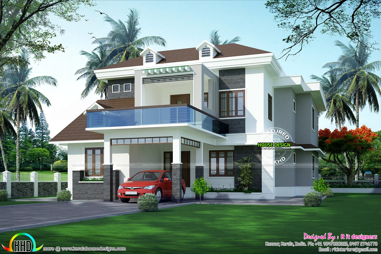 Modern 5 Bedroom House Designs 5 Bedroom Modern House Architecture Kerala Home Design And Floor
