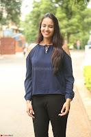 Poojita Super Cute Smile in Blue Top black Trousers at Darsakudu press meet ~ Celebrities Galleries 018.JPG