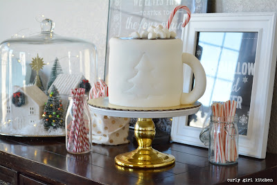 Cup of Cocoa Cake, Hot Chocolate Cake, Checkerboard Cake, Christmas Cake