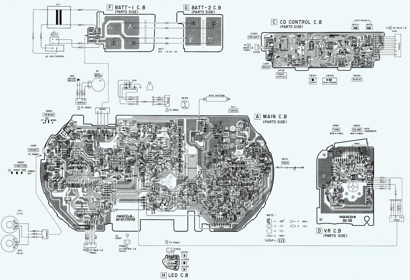 Aiwa Csd Ex110  U2013 Schematic Wiring Diagram Schematic