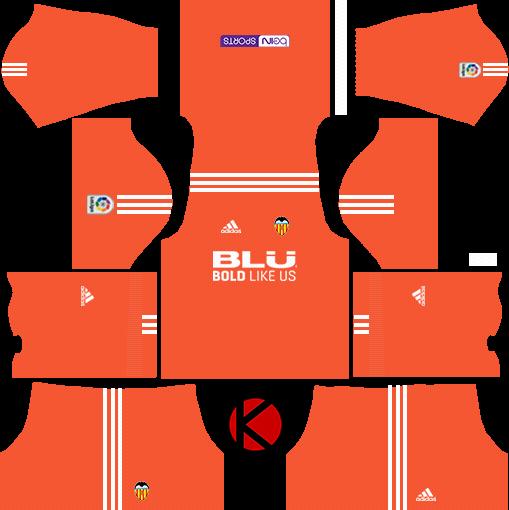 new style bf9a3 d17c5 Valencia CF Kits 2017/2018 - Dream League Soccer - Kuchalana
