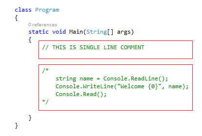 CheezyCode Single Line And Multi Line Comments CSharp