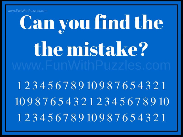 Can you find the Mistake Picture Puzzle