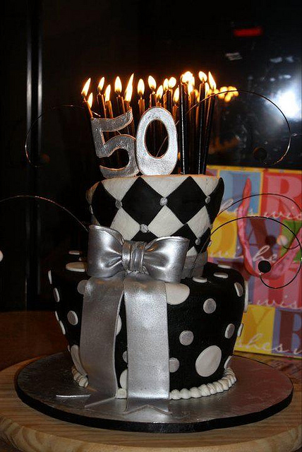 Birthday Cake 50th Birthday Cake Topsy Turvey