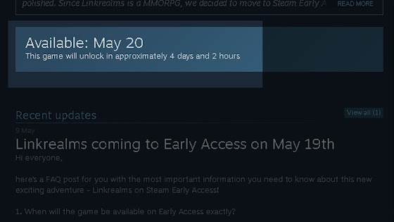 STEAM Launch Coming