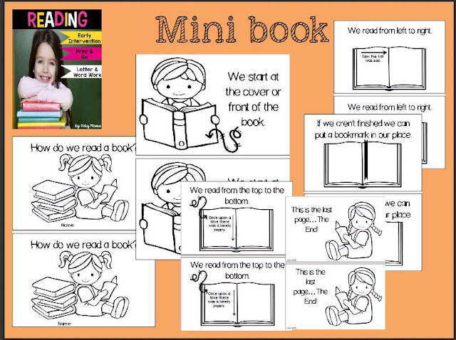 mini book for kindergarten on how to read a book