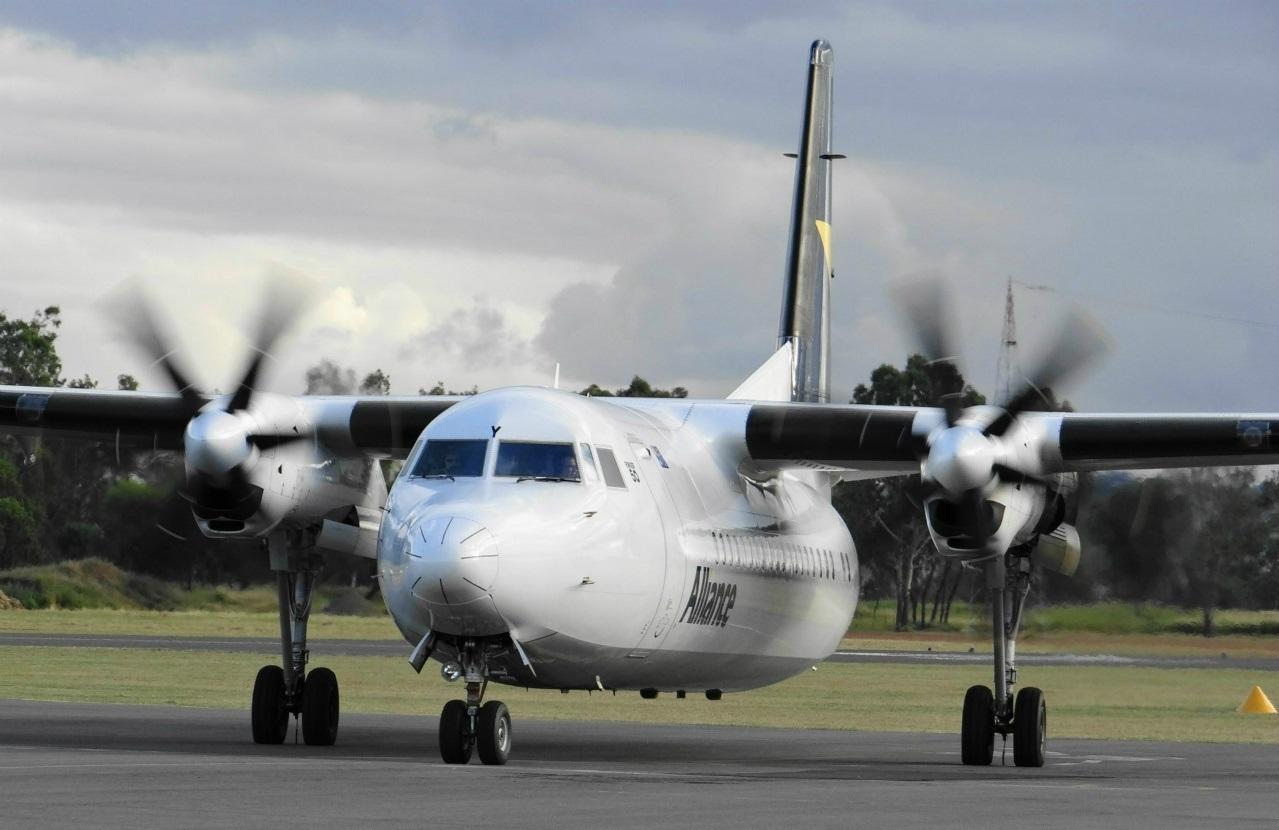 Air Queensland Blogspot Alliance Airlines Fokker 50