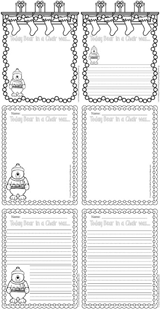 Fern Smith's Classroom Idea - Reusing a childhood friend for when the Elf on the Shelf is just too creepy!  Bear In A Chair Is The Cheap Teacher's Elf On A Shelf, Including a FREE Bear On A Chair Writing Journal for k - 3rd grade at TeacherspayTeachers.