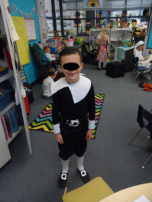 dressing up for a Thanksgiving/ Mayflower celebration in first grade