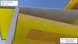 Plafon model tali air