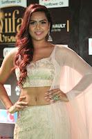 Prajna Actress in backless Cream Choli and transparent saree at IIFA Utsavam Awards 2017 0075.JPG