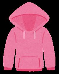 パーカーのイラスト(ピンク)