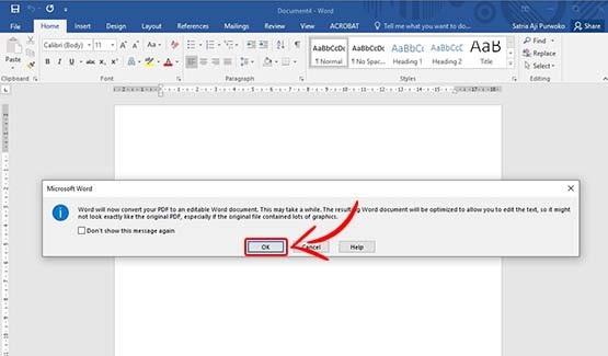 Cara Mengubah PDF ke Word tanpa Aplikasi