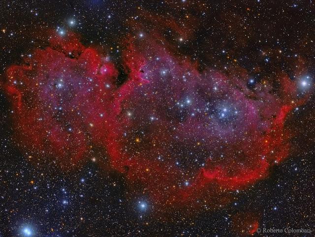 IC 1848 : The Soul Nebula - Tinh vân Linh hồn. Tác giả hình : Roberto Colombari.