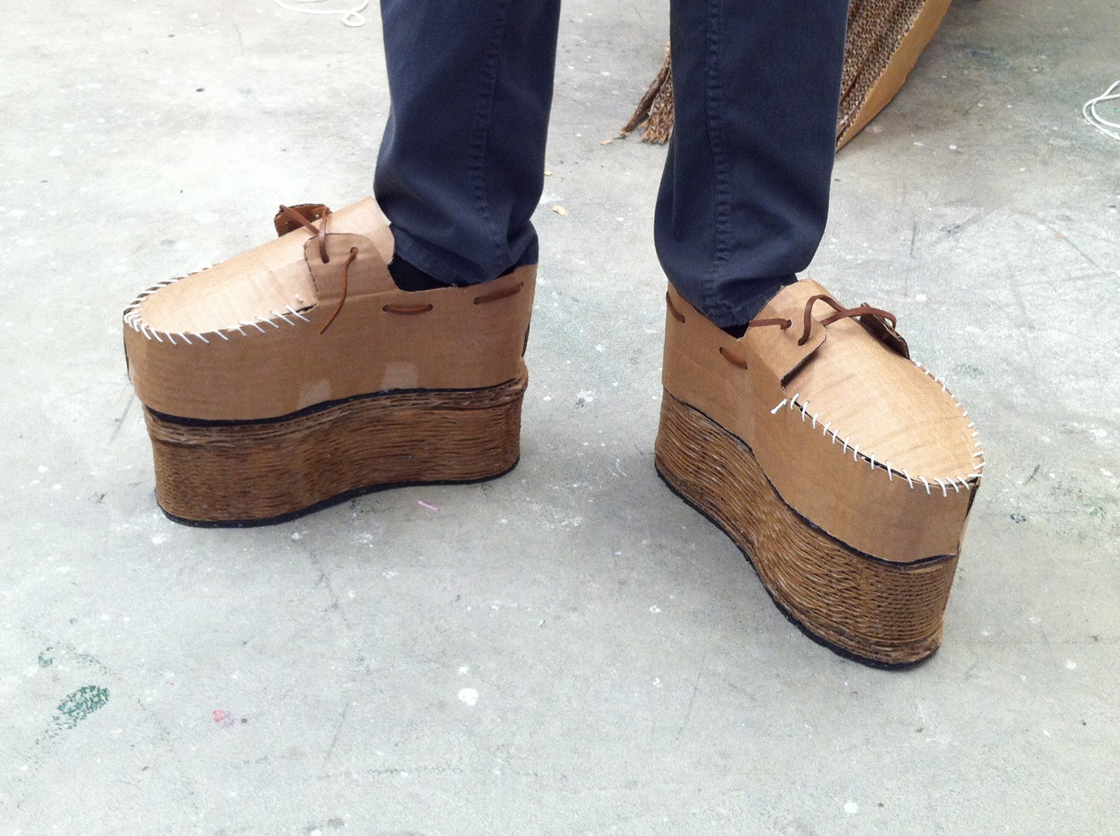 Image result for cardboard shoes