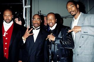 Suge Knight, Tupac Shakur, MC Hammer, Snoop Dogg