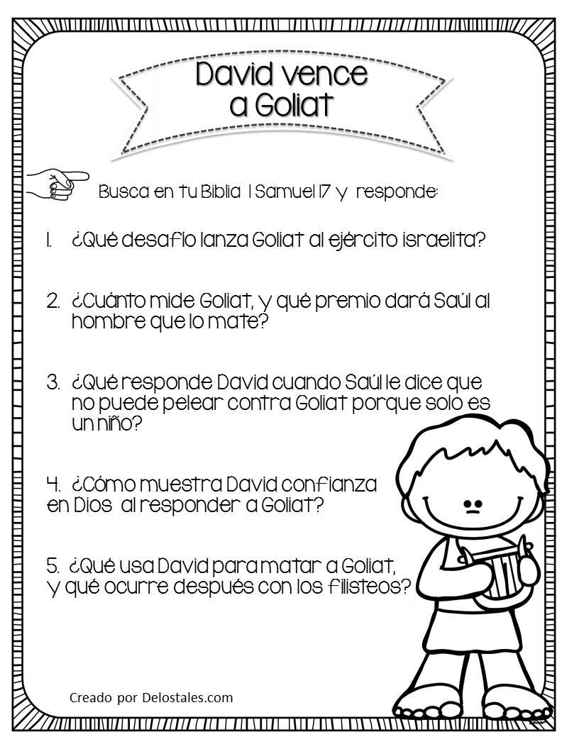 Bonito La Biblia De David Y Jonatán Historia Para Colorear Molde ...