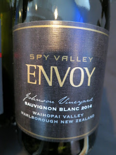 Spy Valley Envoy Johnson Vineyard Sauvignon Blanc 2014 - Waihopai Valley, Marlborough, South Island, New Zealand (91 pts)