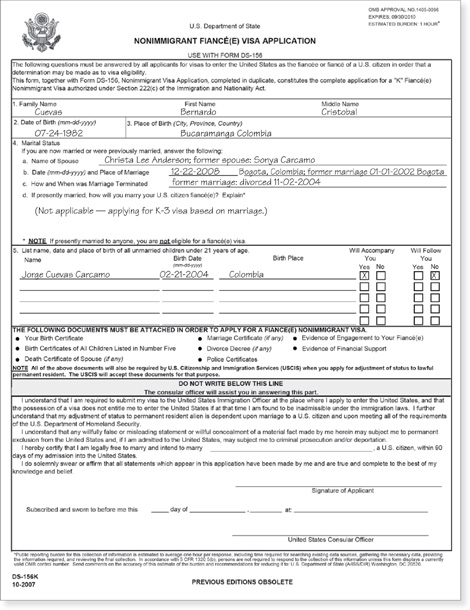 Form ds 156 instructions.