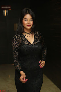 Actress Monica in spicy transparent Black Top at O Pilla Nee Valla Movie Audio Launch Feb 2017 112.JPG