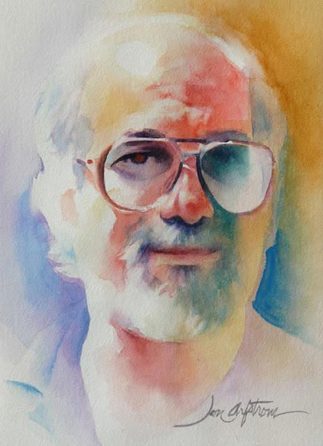 Robert (Bob) Weinberg - portrait by Jon Arfstrorm, Weird Tales illustrator (courtesy David Saunders)