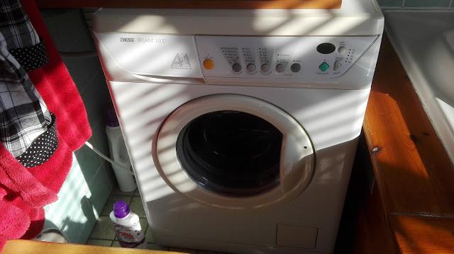 Volle wasmachine.